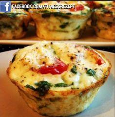 Low Carb Feta-Tomaten Muffins.