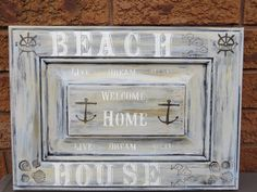 Items similar to NAUTICAL SIGN/rustic sign/entrance sign/cottage sign/beach house decor on Etsy Beach House Signs, Beach Signs, Beach House Decor, Nautical Signs, Nautical Home, Reclaimed Wood Signs, Rustic Signs, Cottage Signs, Entrance Sign