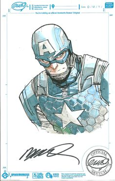 Captain America Sketch by Humberto Ramos