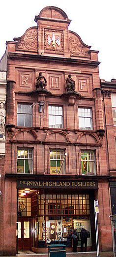 Royal Highland Fusiliers Regimental Museum, Glasgow.  In 1903 Charles Rennie Macintosh was commissioned by Glasgow photographer Thomas Annan, to design an extension to the building. Another Beautiful Glasgow Building