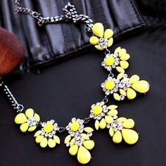 9 Colors 2016 New Statement Choker Fashion Charms Crystal Gem Flower  Elegant Rhinestones Choker Necklaces   4e7d49a199db