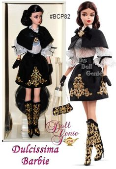 2014 Silkstone Dulcissima Brunette Barbie Doll designed by Robert Best - from the Italian Collection - NOW IN STOCK!