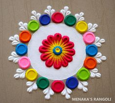 Easy Rangoli Designs Videos, Rangoli Designs Simple Diwali, Simple Rangoli Border Designs, Rangoli Designs Latest, Rangoli Designs Flower, Free Hand Rangoli Design, Small Rangoli Design, Rangoli Patterns, Colorful Rangoli Designs