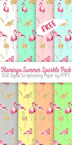 Flamingo Digital Paper! - Free Pretty Things For You