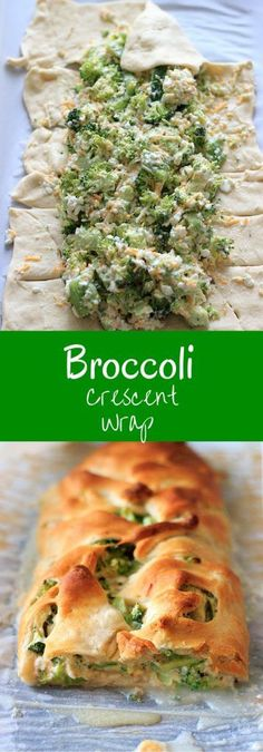 Broccoli and cheese goodness all wrapped up in crescent roll dough. Easy, quick vegetarian dinner, made healthy by swapping out the mayonnaise! dinner recipes with crescent rolls Broccoli crescent wrap - 5 main ingredients, healthy 30 minute dinner Veggie Recipes, Appetizer Recipes, Cooking Recipes, Healthy Recipes, Vegetarian Broccoli Recipes, Catering Recipes, Lunch Recipes, Cheese Appetizers, Wrap Recipes