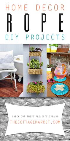 Home Decor Rope DIY Projects - The Cottage Market