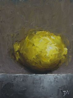 Still life Lemon (2017) Oil painting by Damien Venditti | Artfinder