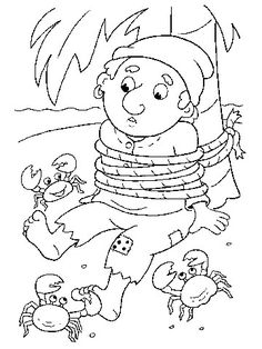 All Tied Up - free coloring pages- Pirates