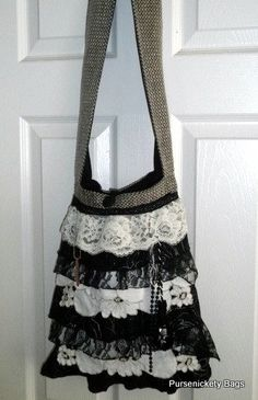 Gypsy Bag large Shabby Chic bag soft beige by PursenicketyBags, $85.00
