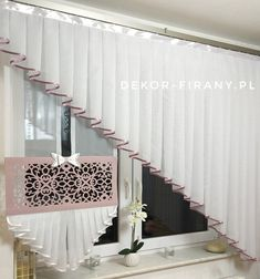 Lace Curtains, Drapery, Modern Window Coverings, My Room, Diy And Crafts, Interior Decorating, Windows, Sewing, Home Decor