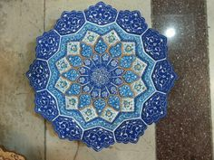PERSIAN MINAKARI HAND PAINTED COPPER PLATE-DISH HIGH QUALITY بشقاب مینا کاری #Handmade #AsianOriental