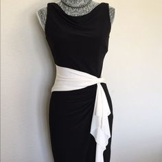 NWT Ralph Lauren! Ralph Lauren, black & white, sold out in store brand new! I purchased at Bloomingdales $150+ tax Ralph Lauren Dresses Midi