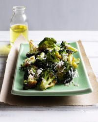 Roasted Broccoli with Lemon and Parmesan  / Again I always swap out the Parm w/Manchego
