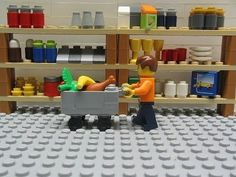 A lot of people go Lego shopping... but when an actual Lego man goes shopping, it brings in a whole new meaning.