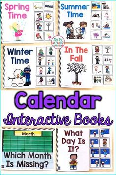 Calendar Interactive Books Adapted For Morning Meeting (Special Ed & Autism) Life Skills Activities, Life Skills Classroom, Autism Activities, Autism Classroom, Autism Resources, Classroom Setup, Classroom Resources, Future Classroom, Teaching Special Education