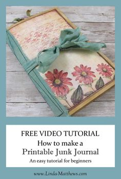 In this free tutorial, I'm sharing the process for making a basic junk journal using printable journal pages. This journal is perfect if you're new to making printable junk journals, or you aren't quite sure how to use printable journal kits.