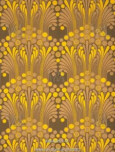 Tivoli furnishing fabric, by Peter Hall. London, UK, 1967