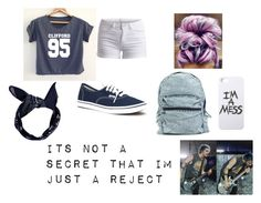 """""""Mikey"""" by neasy13 ❤ liked on Polyvore featuring Pieces, Vans and LAUREN MOSHI"""