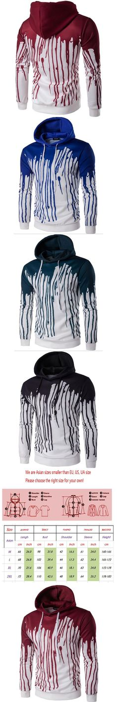 2017 New Spring Autumn Men's Fashion 3D Ink Splash Paint Printing Zipper Hooded Cardigan Hooded Sweatshirts Top Quality