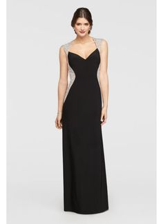 Cap Sleeve Jersey Dress with Beaded Details 57410D