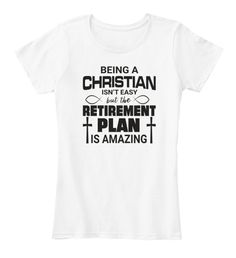 Being A Christian Is Not Easy T Products from Christian T-Shirts Love T Shirt, Christianity, How To Plan, Easy, Mens Tops, Products, Women, Fashion, Christian T Shirts