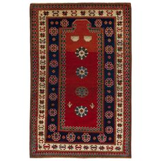 Antique Caucasian Kazak Rug, Dated 1870 | From a unique collection of antique and modern caucasian rugs at https://www.1stdibs.com/furniture/rugs-carpets/caucasian-rugs/