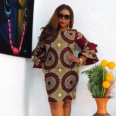 Short African Dresses, Latest African Fashion Dresses, African Print Dresses, African Print Fashion, Africa Fashion, African Clothes, Dresses For Pregnant Women, Simple Gowns, African Traditional Dresses
