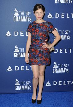 Anna Kendrick wearing @topshop, @mulberry bag, and @dolcegabbana pumps – Delta Airlines Pre-Grammy Party #2014