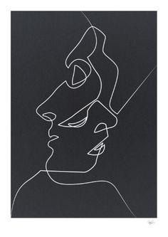 Close Noir Art Print
