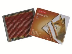 Drawing Pencils 24 Tin