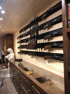 Upgrade your gun room or gun store with Hold Up Dispays' large selection of gun racks and storage solutions. Anything from a vertical gun rack to a rifle display rack, we have you covered. Automotive Furniture, Automotive Decor, Gun Safe Room, Reloading Room, Tactical Wall, Gun Vault, Panic Rooms, Man Cave Room, Gun Rooms