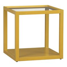 Great lemon grass color on this side table