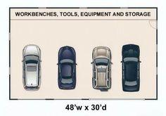 3 car tandem garage dimensions google search garage pinterest