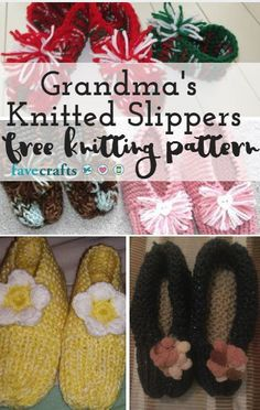 Grandma's Knitted Slippers - Learn how to knit slippers for your grandma (or yourself). This reader-tested pattern is as easy to knit as it is charming.