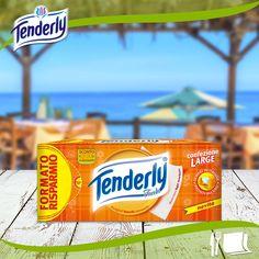 A voi che adorate mangiare in spiaggia, non dimenticatevi di #Tenderly Tavola, utili per ogni  evenienza e di buttarli in un sacchetto una volta utilizzati ;)