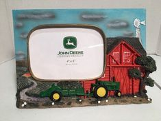 John Deere Tractor Photo Frame Holds 4 x 6 Picture Frame Measure x John Deere Decor, Tractor Photos, John Deere Tractors, Picture Frames, 3d, Ebay, Tractor Senior Pictures, Portrait Frames, Picture Frame