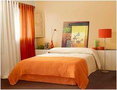 Спальня в оранжевых тонах фото фото