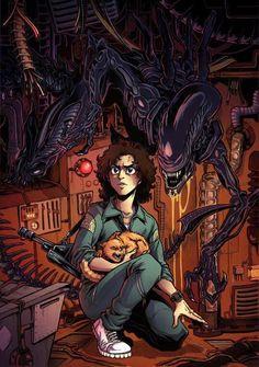 horror never dies Arte Alien, Alien Art, Alien Vs Predator, Wolf Predator, Aliens Funny, Aliens Movie, Alien Ripley, Alien Isolation, Science Fiction