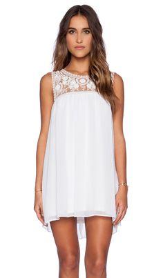 Show Me Your Mumu Baskin Mini Dress in White Crisp   REVOLVE Grad Dresses, Dress Outfits, Cute Outfits, Coachella Dress, The Bling Ring, White Mini Dress, Floral Stripe, Revolve Clothing, Spring Dresses