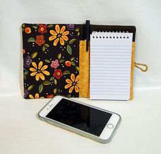 Notebook, Brown, Coupon Organizer, Paper, Pen, List Maker, Wallet by rosemontbags on Etsy