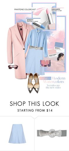 """""""Pretty Pantone Colors for 2016"""" by shortyluv718 ❤ liked on Polyvore featuring Sephora Collection, Roland Mouret and Jimmy Choo"""