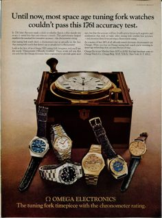 Amazon.com: 1973 OMEGA Tuning Fork Watch Vintage Retro Original Ad: Everything Else