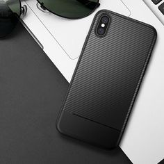 Enthusiastic Iphone X Cell Phone Accessories Xs Ultra Thin Bumper Shockproof Protective Carbon Fibre Case Cover