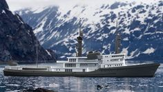 Pastrovich Studio is the designer for the WallyPower range, including the still-otherworldly tri-turbine WallyPower 118. Turns out it also does a fair bit of contract work for individuals, and one of its latest projects is a concept to refit a ship that began life as an ocean-going tug boat, turning it into a luxury yacht.