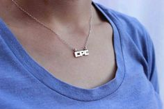 Monogram Necklaces Personalized Jewelry Monogram by aforfebre, $35.00