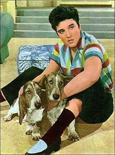 Elvis and hounddogs