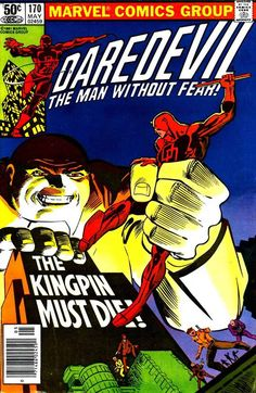 Daredevil #170  May, 1981 Cover by Frank Miller and Klaus Janson