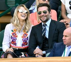 Game, Set, Matching * Bradley & girlfriend Suki Waterhouse- attended the semi-final match between Djokovic & Dimitrov at Wimbledon on 7/4/14 in London.