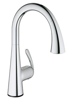 View the Grohe 30 205 Ladylux3 Cafe Touch Activated Pull-Down High-Arc Kitchen Faucet with 2-Function Locking Sprayer at FaucetDirect.com.