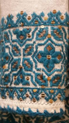 Embroidery Stitches, Hand Embroidery, Pakistani Dresses, Nova, Traditional, Blanket, Crochet, Crafts, Hungarian Embroidery